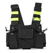 Radio Pocket Radio Borst Harnas Borst Front Pack Pouch Holster Vest Rig Carry Case Voor 2 Way Radio Walkie Talkie voor Baofeng #8(China)