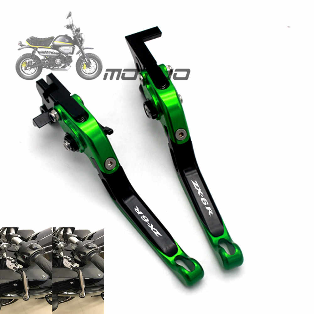 For Kawasaki ZX6R ZX-6R ZX 6R 1995 - 1999 1998 1997 1996 Motorcycle Folding Extendable Lever CNC Adjustable Clutch Brake Levers