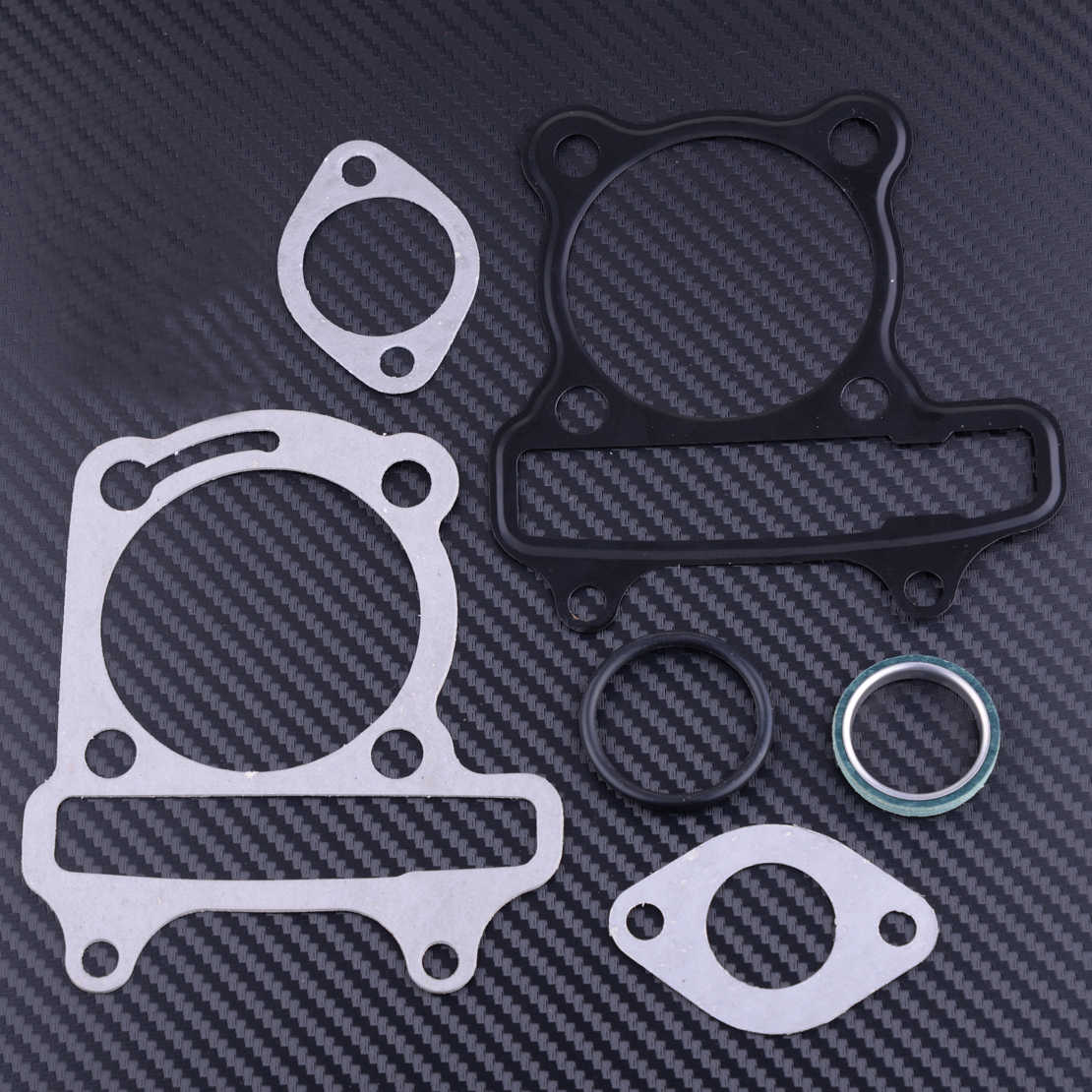 beler 7pcs Repair Engine Gasket Fit for GY6 150cc Go-kart ATV Scooter Moped Replacement Motorcycle Sealing Case Gasket Kit Atv