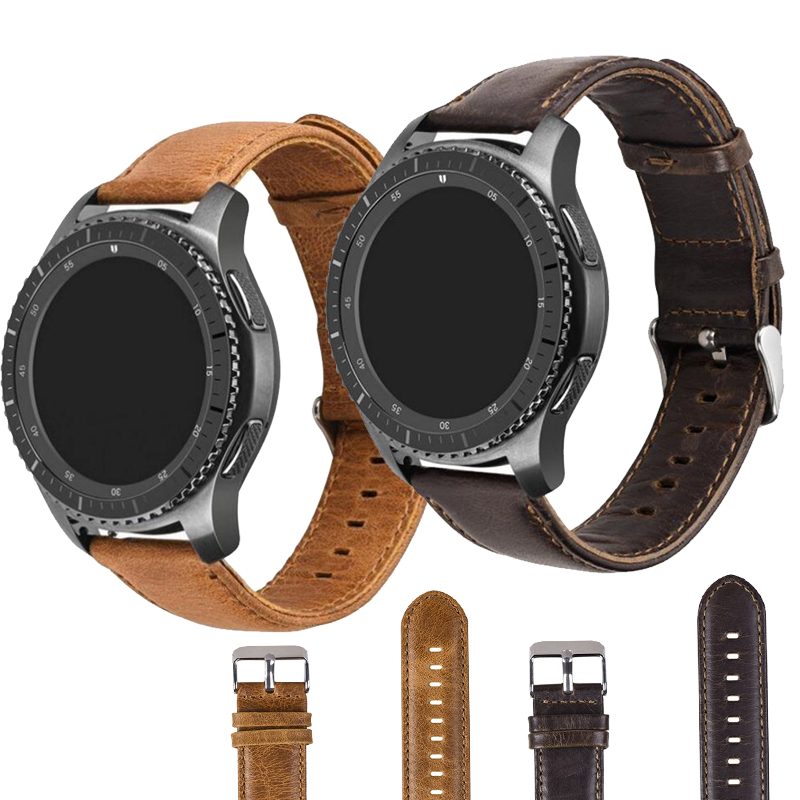 20m 22mm Genuine Leather Loop for Samsung Gear S2 S3 Classic Frontier Galaxy Watch 42mm 46mm Huami Amazfit Bip Huawei Watch gt 220m 22mm Genuine Leather Loop for Samsung Gear S2 S3 Classic Frontier Galaxy Watch 42mm 46mm Huami Amazfit Bip Huawei Watch gt 2