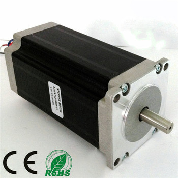 NEMA23 stepper motor 57x112mm 23HS2430 Single 8mm Circular Shaft 4-Lead 425oz-in 112mm 3.0A Milling Machine Cut image