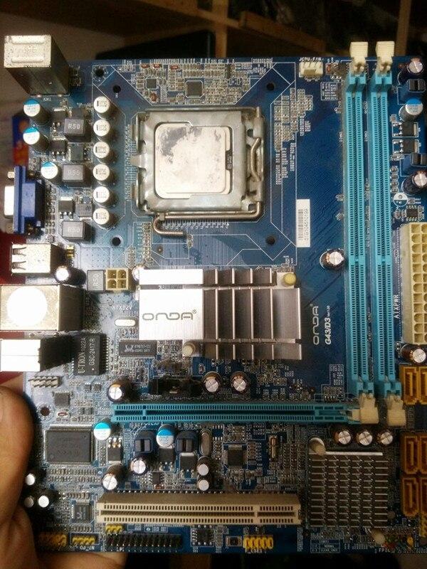 G43 board G43KD3 support DDR3 font b 775 b font pin integrated board G43 board