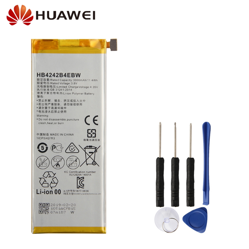 Original Replacement Phone Battery For Huawei Honor 6 4X H60-L01 H60-L02 H60-L11 H60-L04 HB4242B4EBW Authenic Battery 3000mAh