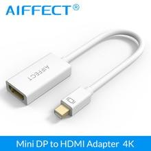 UHD AIFFECT Новый Мини DP к HDMI Адаптер Mini DisplayPort Thunderbolt Порт HDMI Мужчин и Женщин 4 К Ultra HD Кабель конвертер