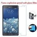 Nano a prueba de explosiones de vidrio suave protector claro de la pantalla la película protectora para samsung galaxy galaxy note edge/n915