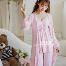 d4dccad1a4 Princess sweet lolita pajamas With the winter pajamas female bra straps long  sleeved jacket three piece