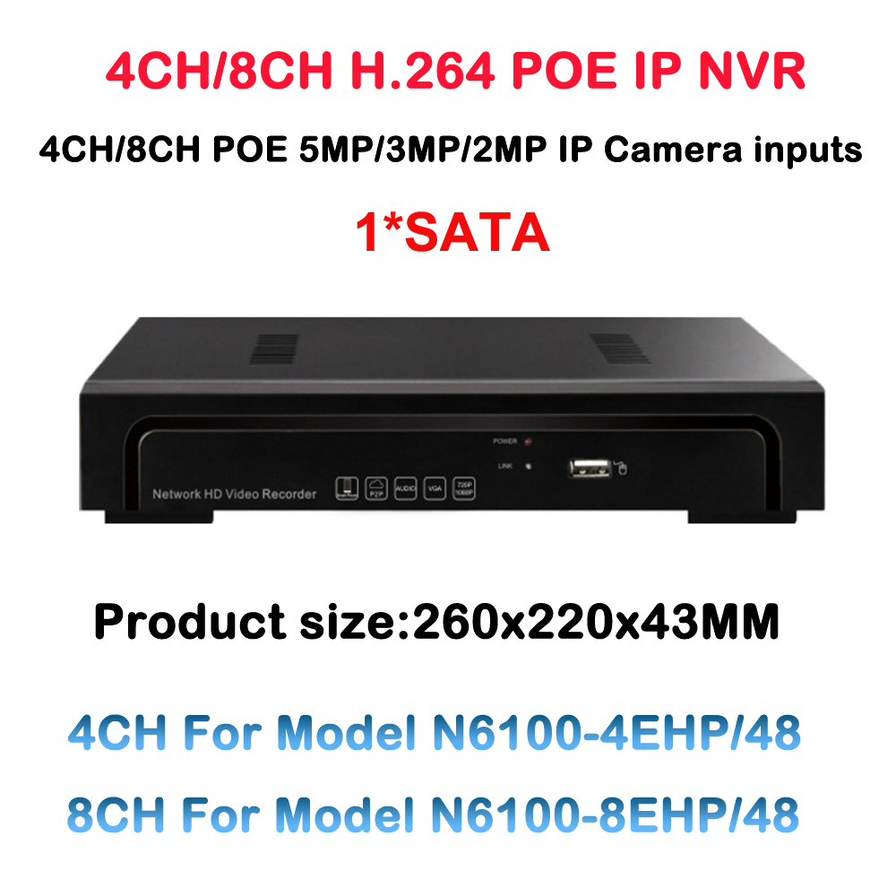4CH 8CH Onvif 48V 5MP/3MP/2MP Standalone Real PoE NVR Network Video Recorder for PoE IP Cameras With Free P2P Cloud Service 2014 sale 4ch onvif full hd 48v real poe 80 100m nvr kits with 720p varifocal 2 8 12mm lens ip cameras p2p cloud service