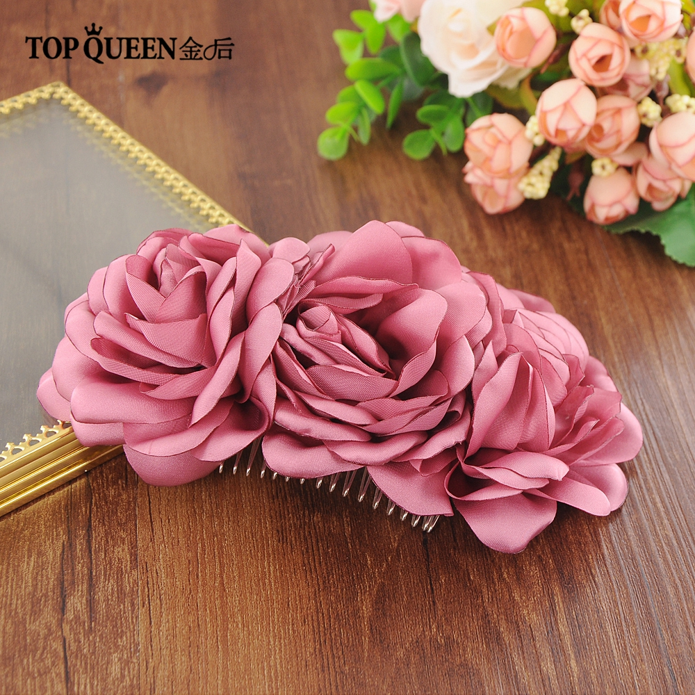 TOPQUEEN HP51 Wedding Headpiece DIY Headdress Wedding Hair Accessories For Bridal Wedding Multicolor Flowers Hairpin Hair Clip