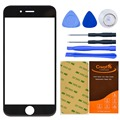 CrazyFire Черный Переднее Стекло Объектива Замена Для Iphone 6 Plus 5.5 Дюймов Внешний Сенсорный Экран Ремонт Комплекты + Клей + Инструменты