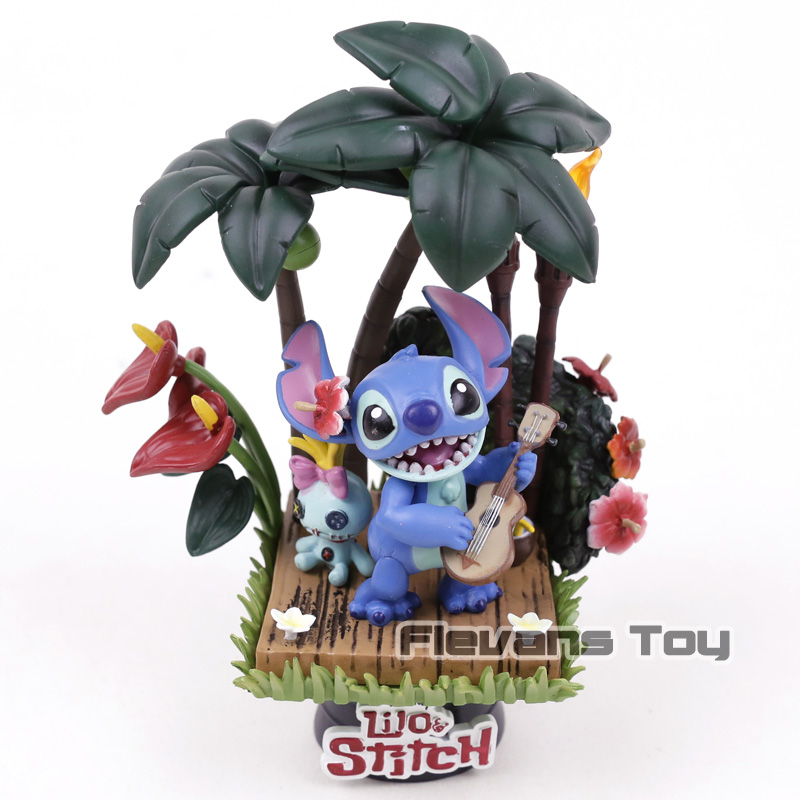 Lilo & Stitch PVC Statue Figure Collectible Model Toy Car Home Decoration Doll Christmas Birthday Gift pvc figure the simulation model toy decoration tr ibe doll ornaments 9pcs set