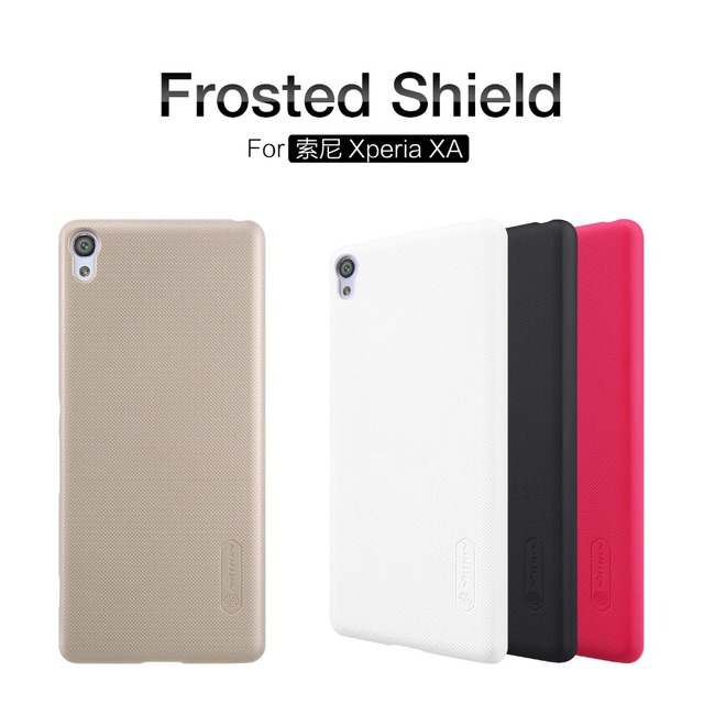 new style 92f37 e1db9 US $7.19 5% OFF|Case For Sony Xperia XA Original NILLKIN Super Frosted  Shield Back Case Cover For Sony Xperia XA Cover + Free Screen Protector-in  ...