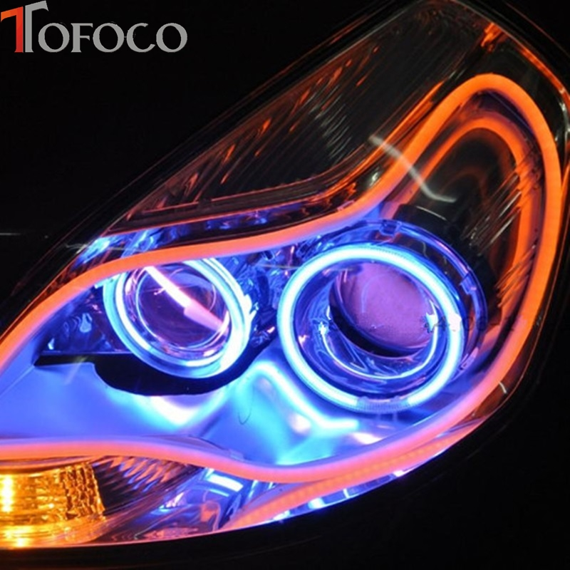 TOFOCO 1 Pcs LED DRL Strip Car styling Lights 30 45 60 85 cm Daytime Running Light Unive ...