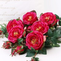 Get 5 free 1 Roses Artificial Flowers Home Decorations England Rose Flower Arrangement Flowers Silk Fake Flowers Roses