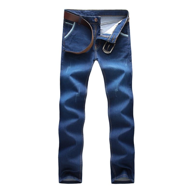 Blue font b Mens b font font b Jeans b font 2017 Fashion Business Casual Male