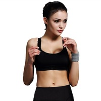 Vertvie Sports Bra Women Push Up Bra For Running Gym Shakeproof Fitness Cropped Top Female Yoga