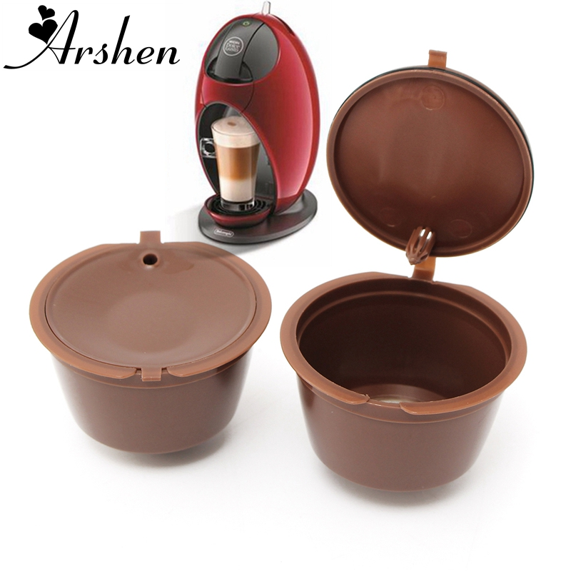 Arshen 1Pc Professional Refillable Coffee Filter 200 Times Reusable 12g Sweet Taste Coffee Capsule Plastic PP Basket Dolce Gusto