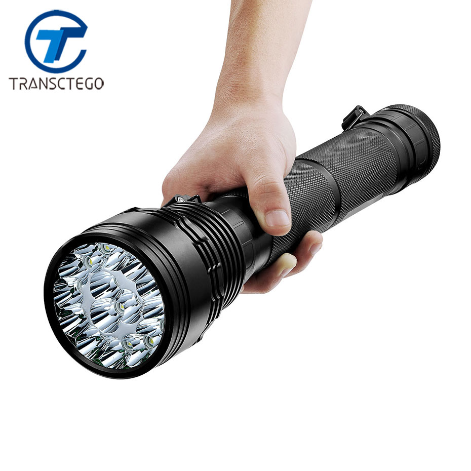 TRANSCTEGO Flashlight Rechargeable HID Torch xenon Lumen 150W Light Tail Black Flashlight Outdoor Hunting Camping USB Power bank fenix uc02 rechargeable black