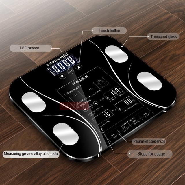 LED Screen Body Grease Electronic Weight Scale 3