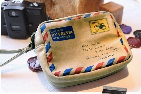 Free Shipping Sweet envelope design digital camera bags,Coin/cosmetic/Card  Bags,wholesale,20pcs/lot