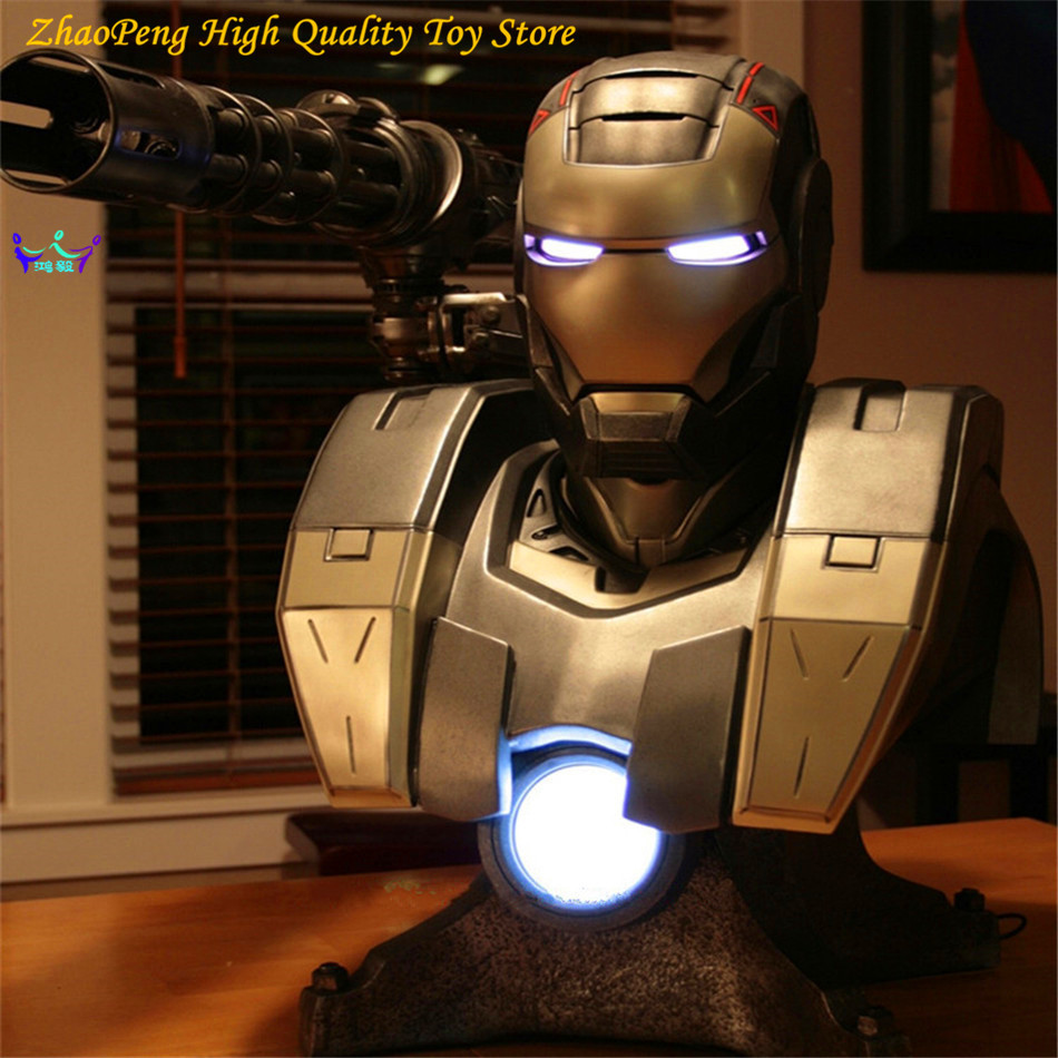 New Replica  Anime  War Machine Life Size 1:1 Bust Iron Man 2 Model Statue Action Figures Collection FB189 god of war statue kratos ye bust kratos war cyclops scene avatar bloody scenes of melee full length portrait model toy wu843