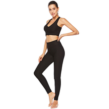 Daily fitness Y-type shoulder strap waist hip pants yoga sport split two-piece set free shipping