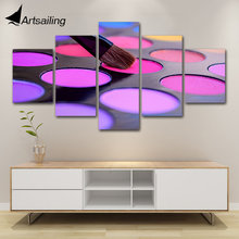 posters and prints 5 Piece purple Eyeshadow Beauty Salon Painting wall art Canvas art Painting wall pictures For Living Room(China)