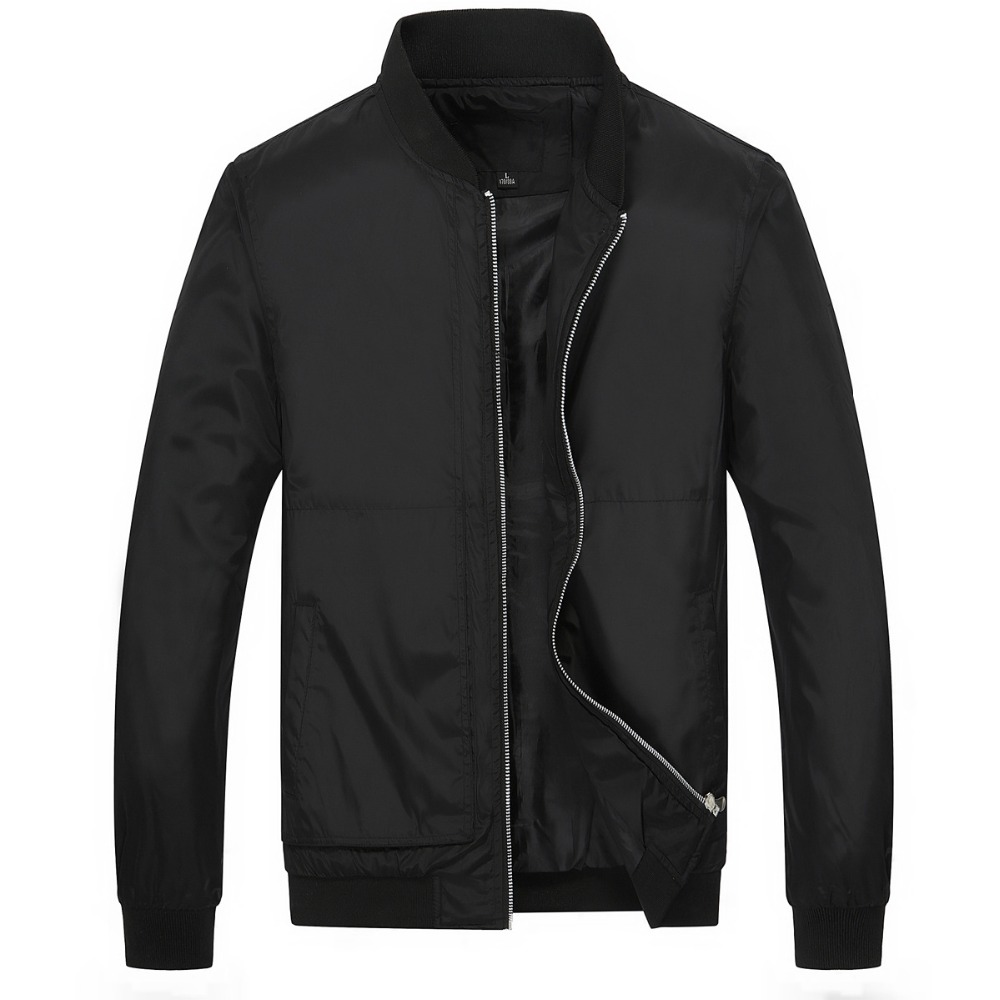 Mens Jackets Coats Clothing Windbreaker Collar Classic-Stand Baseball Lightweight Male