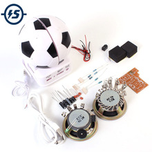 Mini Active Speaker DIY Kit Loudspeaker Suite Football Shape For Electronic