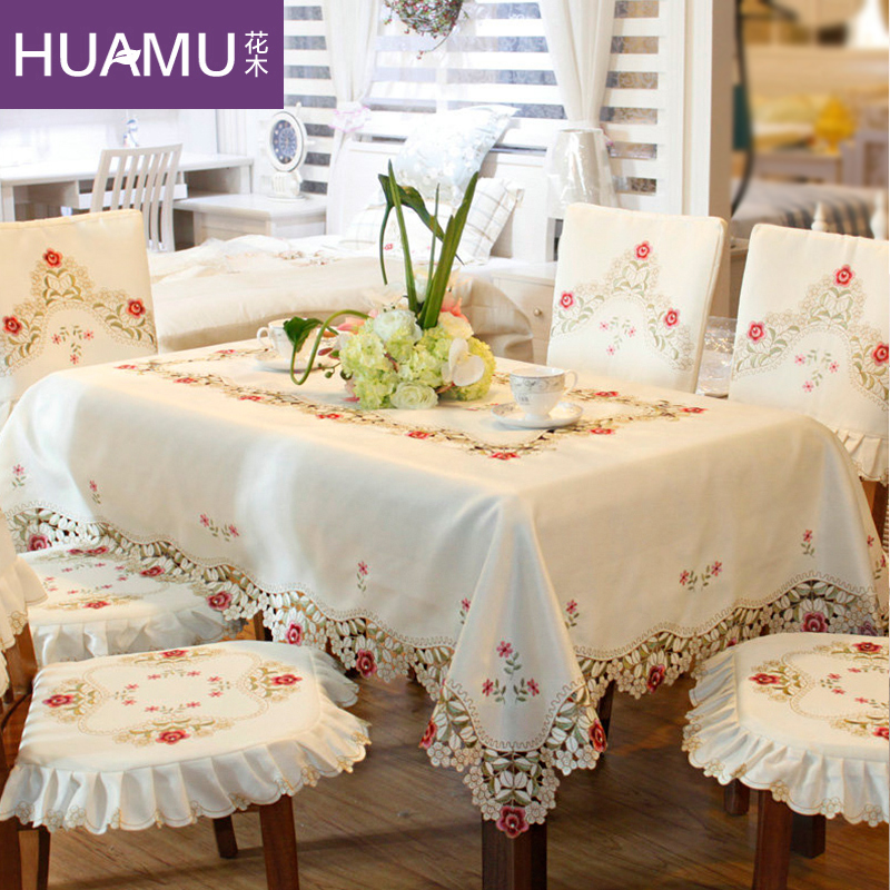Grade square Top dining table cloth chair covers cushion tables and chairs bundle chair cover rustic lace cloth set tablecloths