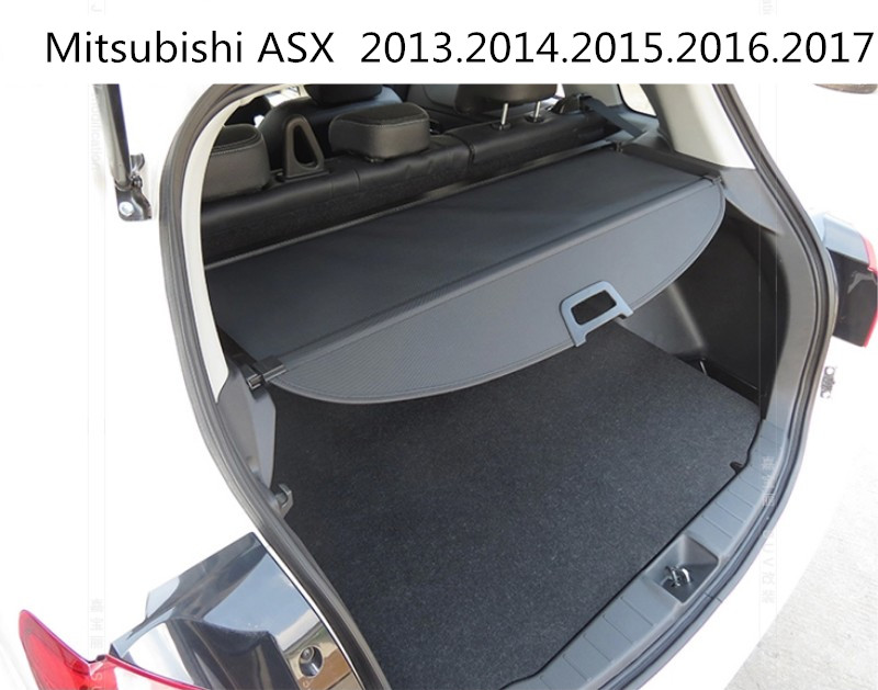 Car Rear Trunk Security Shield Cargo Cover For Mitsubishi ASX 2013.2014.2015.2016.2017 High Qualit Black Beige Auto Accessories car rear trunk security shield shade cargo cover for honda fit jazz 2004 2005 2006 2007 black beige