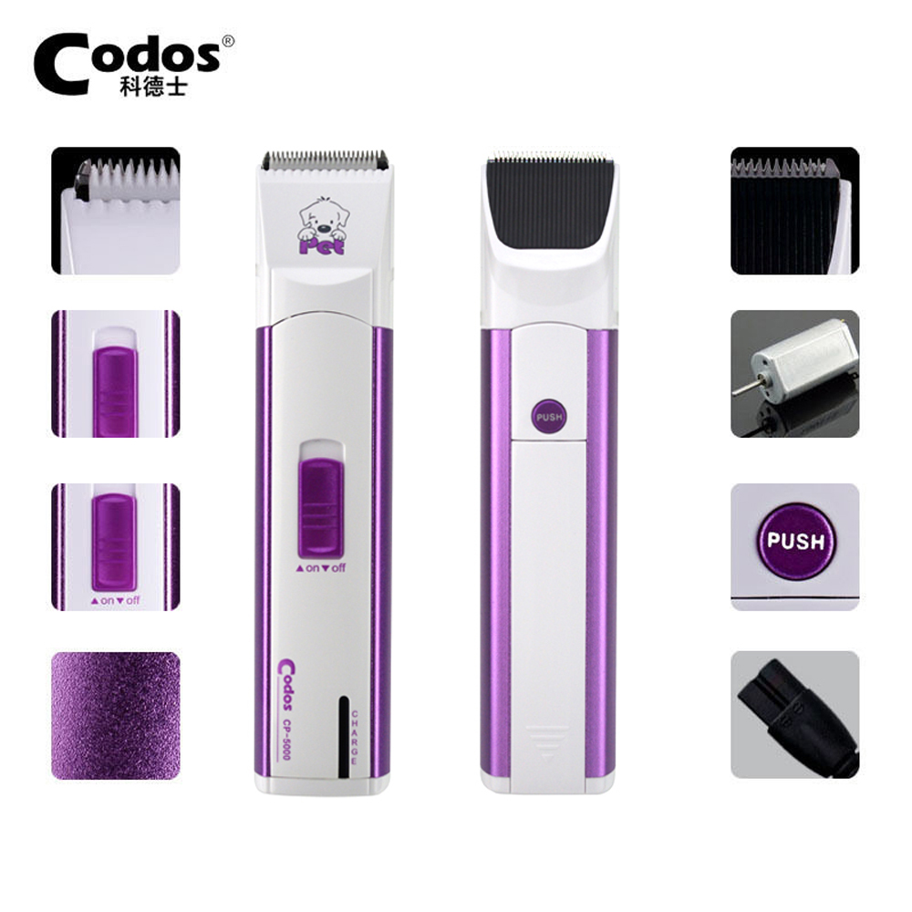 Original Quality Codos CP-5000 Pet Electric Shaver Dog Part Trimmer Rechargeable Dog Face Ears and Foot Clipper With Retail Box