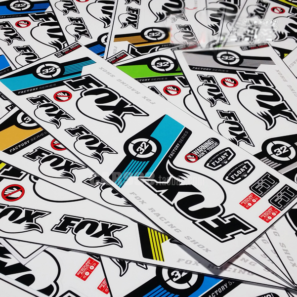 2pcs set 3m 8colour fork decals bicycle front fork stickers high quality vinyl foil stickers mtb fork decals racing stickers in bicycle stickers from sports