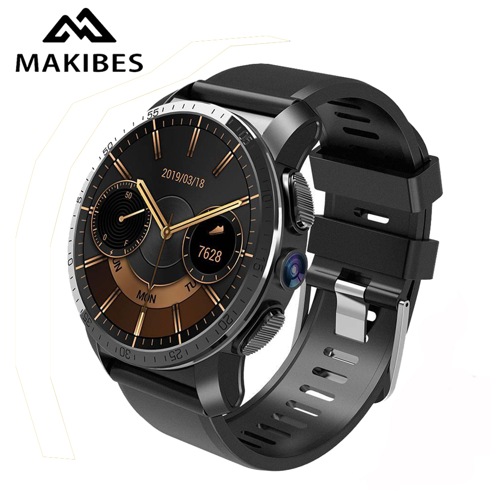 Makibes M3 4G MT6739 NRF52840 Dual chip Waterproof Smart Watch Phone Android 7 1 8MP Camera