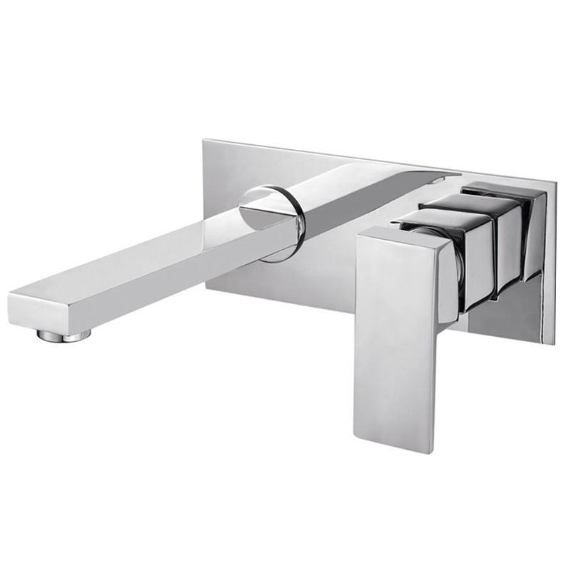 BECOLA Free shipping Into the wall washbasin water tap Three piece set flush faucet Bathroom cabinet
