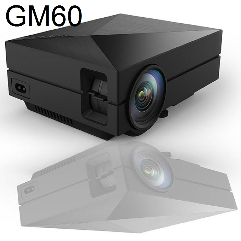 GM60 MINI LED Projector 800 480 1000Lumens For HD Video Games TV Home Theater Movie Support