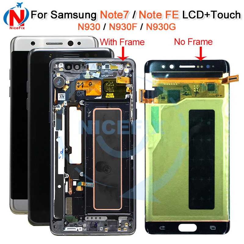 For Samsung Galaxy Note Fan Edition FE SM N935F DS N935F LCD display touch screen digitizer