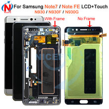 Für Samsung Galaxy Note Fan Edition FE SM-N935F/DS N935F LCD display touch-screen-digitizer mit Rahmen Für Samsung hinweis 7 LCD(China)