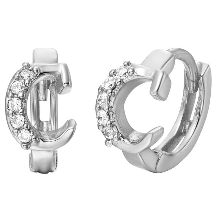 Customized A B C D E F G H I J K L M N O P Q R S T U V W X Y Z Drop Earrings 18 Gold Crystal Alphabet Women Charms Earring Gift