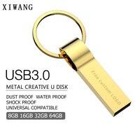 flash drive usb flash drive 64 GB pendrive 4GB 8GB 16GB 32GB metal flash  memory stick Gold pen drive 128GB usb stick mini Free print LOGO (1)