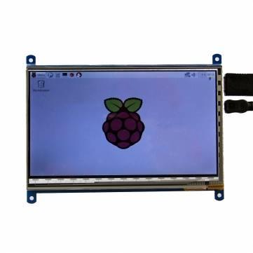 7 pouces 1024x600 TFT LCD HDMI écran tactile capacitif avec support de support acrylique pour Raspberry Pi 3B/2B/B Plus