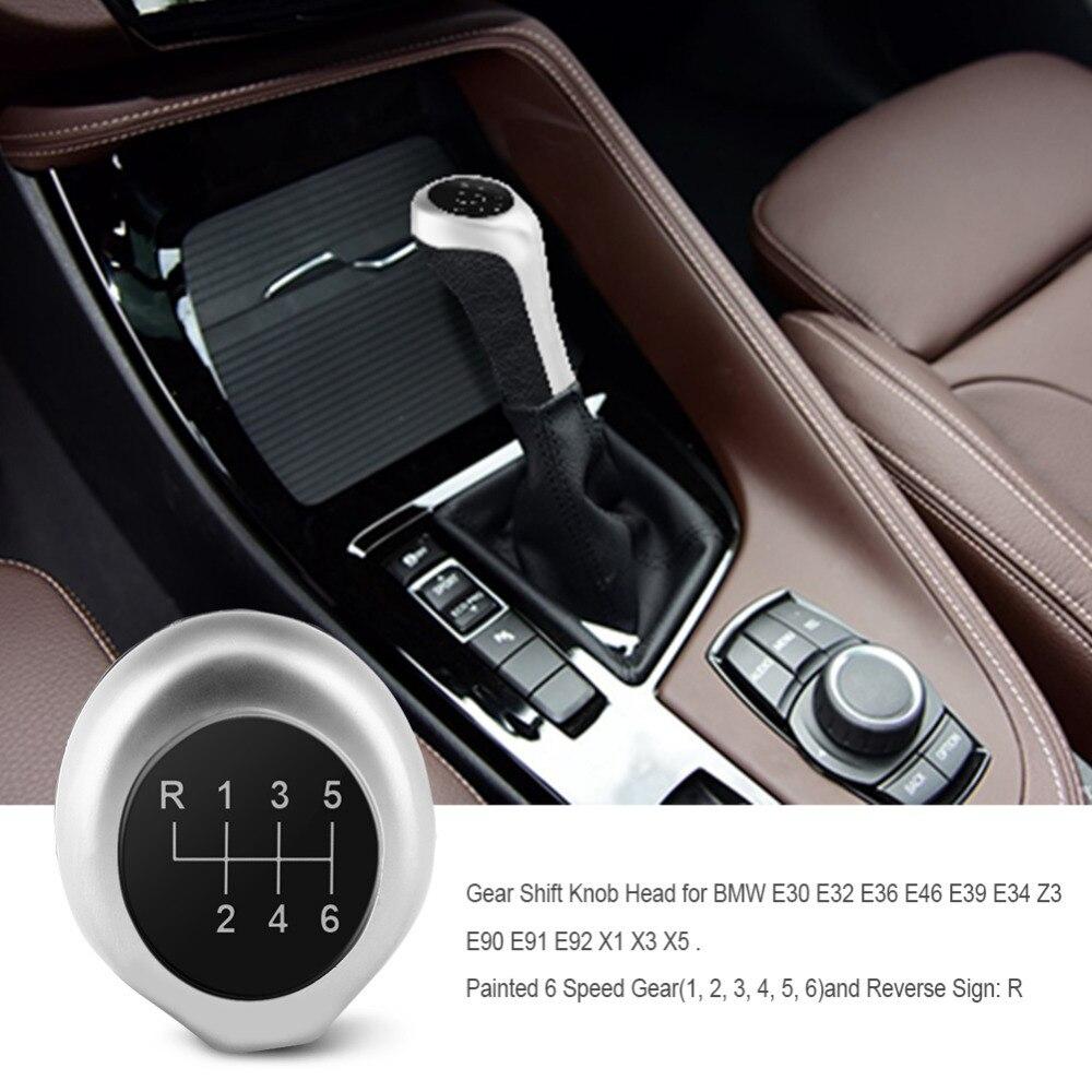 6 Speed Car Manual Gear Shift Knob Stick Head For BMW E36 E46 E39 E34 Z3 E90 E91 E92 X1 X3 X5