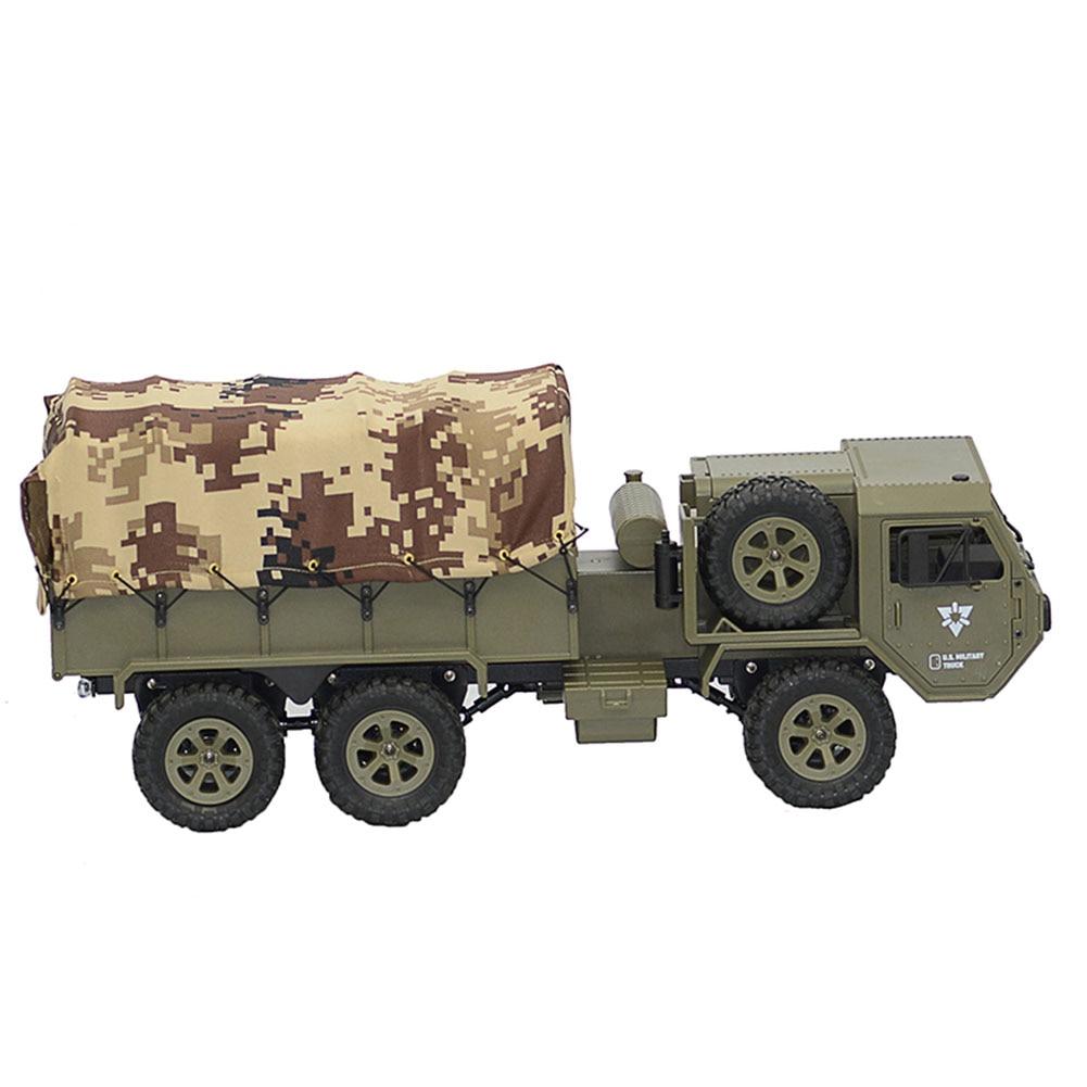 FY004A 1:16 6WD pojazdów RC samochód Off Road lekki Model zabawki Hobby śmieszne proporcjonalne prezent armia ciężarówka symulacji chłopcy 2.4G w Samochody RC od Zabawki i hobby na  Grupa 1