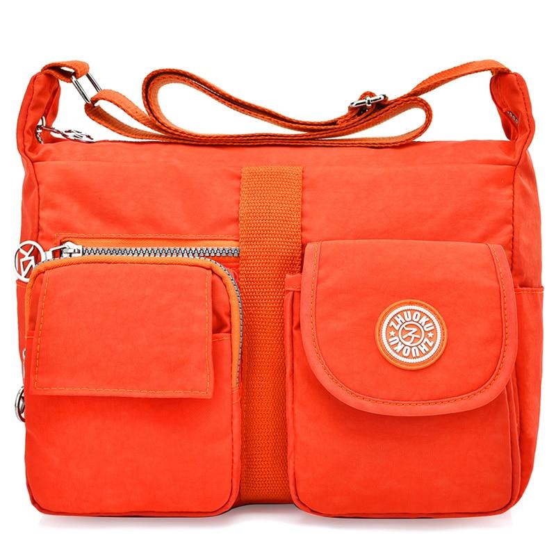 Nylon Women Messenger Bags Casual Clutch Carteira Vintage Ladies Handbag Female Crossbody Bags Shoulder Bags