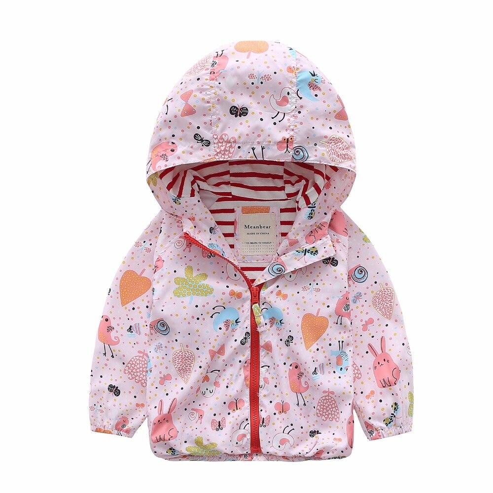 M70 Демисезонный модная куртка для мальчиков и девочек граффити пальто с капюшоном Детская куртка топы для девочек Детская ветровка пальто т...