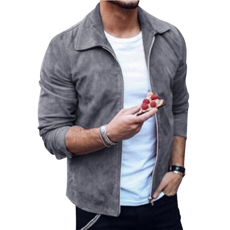 HTB1hcyTaAT2gK0jSZFkq6AIQFXaP MJARTORIA 2019 New Fashion Men's Suede Leather Jacket Slim Fit Biker Motorcycle Jacket Coat Zipper Outwear Homme Streetwear