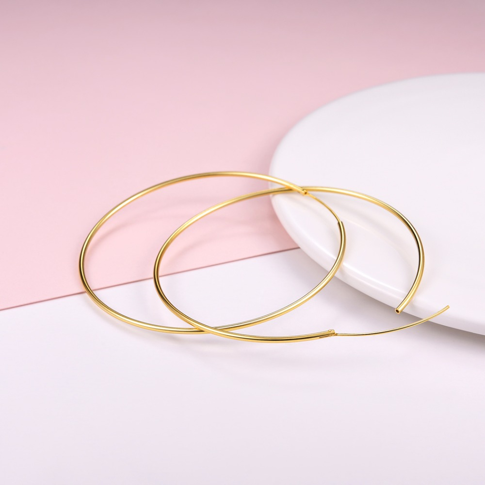 Արծաթագույն ոսկե գույնի կլոր - Նուրբ զարդեր - Լուսանկար 6