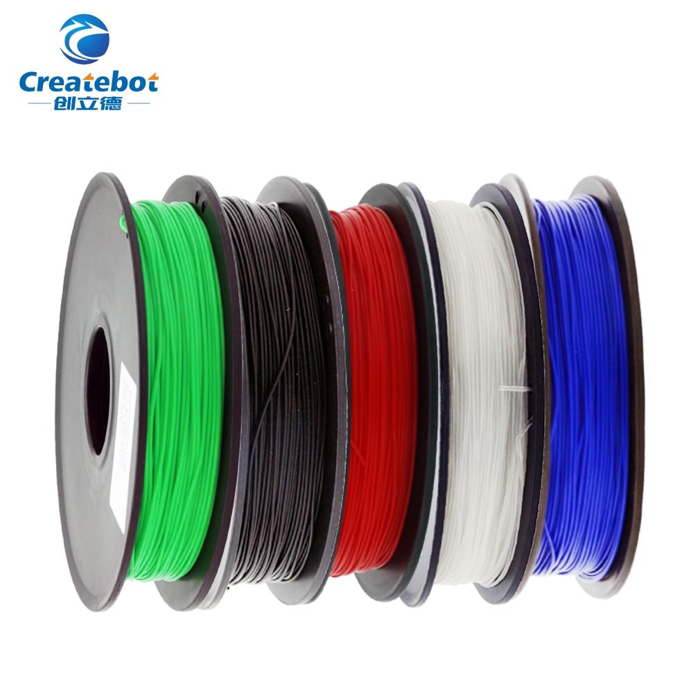 Filament d'imprimante 3D de haute qualité p'la 1.75mm 500g consommables en caoutchouc plastique matériaux de Filament en plastique coloré