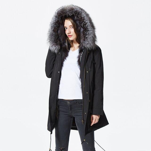 Silver Fox Parka Coat