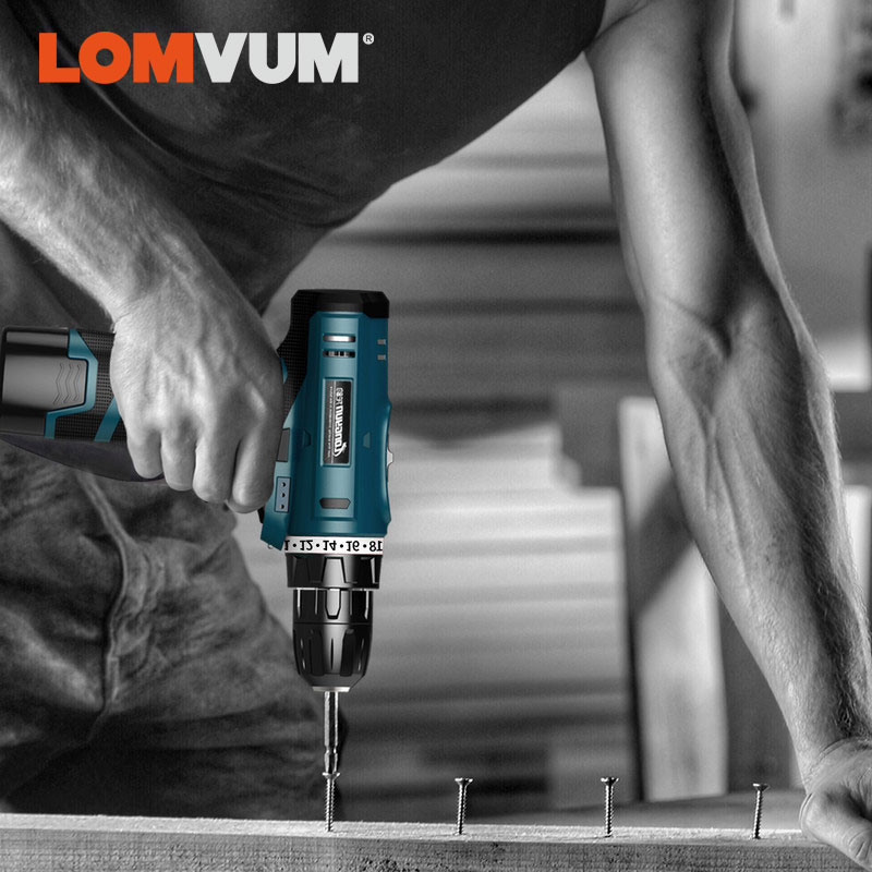 LOMVUM New Arrivals Electric Screwdriver Multifunction Power Tools Electric Drill WaterProof Rechargeable Mini Cordless DrillLOMVUM New Arrivals Electric Screwdriver Multifunction Power Tools Electric Drill WaterProof Rechargeable Mini Cordless Drill