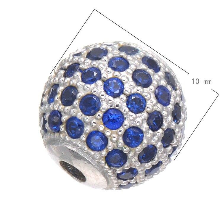Fashion Jewelry Cubic Zirconia Beads Inlaid Multicolor Zircos
